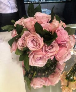 Here is one of Kevin's arrangements. The colors of these roses are so stunning.