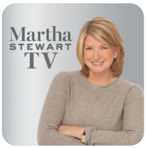 This is the icon for the brand-new MarthaStewart.TV streaming app. Subscribers can download the app and watch episodes on a computer, mobile phone, tablet, and any streaming device. https://www.marthastewart.tv/