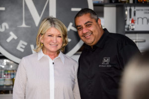 Here I am with restaurateur, and cookbook author, Chef Michael Mina. He is also the founder of the Mina Group, a restaurant management company operating more than 40-restaurants worldwide. (Photo by Brenton Ho for MGM Resorts International)