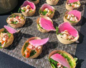 Here are samples from Otoro Robata Grill & Sushi - black tiger shrimp served with tamarind glaze, pickled fresno chiles and rakkyo. https://www.mirage.com/en/restaurants/otoro.html