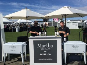 Here is the Martha Stewart Wine Co. station, where volunteers poured glasses for guests to sample and enjoy. Go to our web site to see all our wines, including some of my personal favorites. https://marthastewartwine.com/