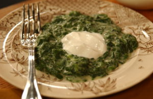 "Creamed Spinach: This is one of my personal family favorites. My mother ""Big Martha's"" Creamed Spinach always makes an appearance at our holiday gatherings - even better served with a large dollop of sour cream!"