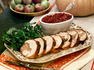 Boned, Rolled, and Tied Turkey: Practical and elegant, this deboned turkey breast roulade is filled with savory stuffing. Watch my tutorial on boning and butterflying the breast, or to save time, ask your butcher to do the knife work.