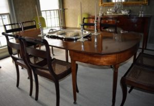 They look identical to the rest of the chairs around the table. Please visit the Yorkville Caning Furniture Repair Inc. web site to learn more about this special art. Do you have any caned chairs? Share your comments below.