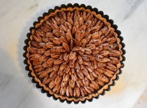 Here's a sneak peek at one of Molly's gorgeous pies - this is a Brown Butter Bourbon Pecan Pie.