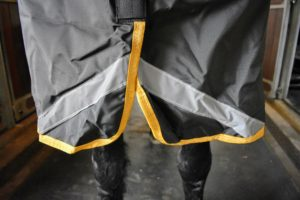 The blanket includes reflective strips in the front and back, so they're easy to see in their paddocks during night checks.