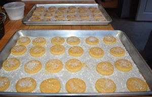 And to accompany the sorbet - brown butter shortbread cookies.