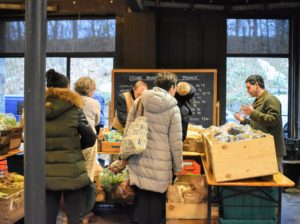 Inside the market, there were several booths set-up with various holiday meal provisions, such as the Stone Barns vegetable stand, where visitors could purchase fresh eggs, potatoes, carrots, and other organic produce grown in their gardens.
