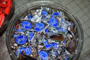 York Peppermint Pattie is a dark chocolate enrobed peppermint confection first produced in York, Pennsylvania in 1940.