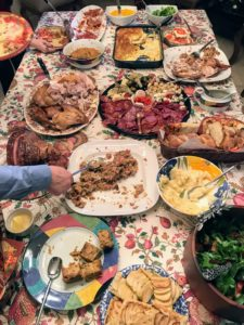 Samantha says she always forgets to capture the spread before everyone digs in! This was Samantha's first Thanksgiving with an Italian spin - and she loved it.