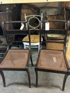 Here are the two chairs all repaired.