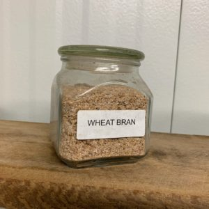Some of the different grain mixes include wheat bran, rice bran, maize powder, and combinations of the same.