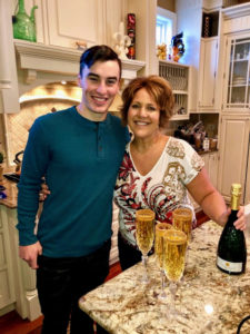 To start off the day's celebration, Dorian's nephew, David, and her sister-in-law, Dr. Linda Arrich, prepared apple cider mimosas with sparkling wine from our own Martha Stewart Wine Co.