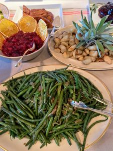 We also had fresh green beans.