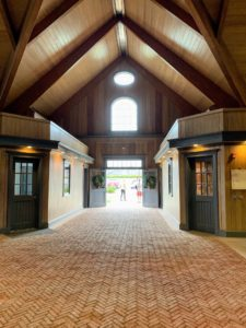 The farm's world class 22-thousand square foot barn complex was designed by renowned architect, Jeff Pearson. It includes indoor and outdoor rings and is located on 286 bucolic acres of pastures, and woodlands.