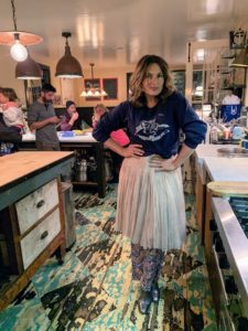 During the weekend, I also drove out to East Hampton to check on my home, Lily Pond, and to visit my friend, actress Mariska Hargitay. Here she is in the kitchen of her antique farmhouse - maybe she's preparing some delicious Thanksgiving leftovers.
