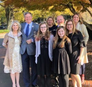 And Heather Kirkland, who directs many of my special events, flew down to North Carolina to spend Thanksgiving with her family. Here she is joined by Pat, her dad Rick, niece Ashley, stepsister Amy, niece Mackenzie, sister-in-law Betsy, and her brother Keith. I am so happy to see everyone enjoyed the special day! I hope you all did too.