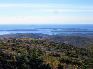 Here is a view looking out onto Seal Harbor. From this vantage point, one can see Thrumcap Island, Sutton Island and the Cranberry Isles in the distance.