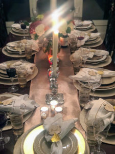 Lauryn McLaughlin is our director of marketing. She hosted Thanksgiving this year for her family. Here is her beautiful table setting.