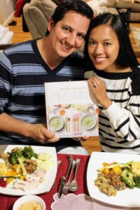 "Gianella's sister, Guen, and her husband, Eric, just returned from their honeymoon in South Africa so it was the perfect time to give them my book, ""Newlywed Kitchen""."