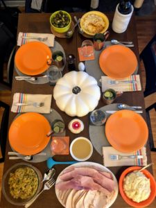 This submission is from Danielle Vitt, our digital marketing manager. Danielle and her husband, David, hosted Thanksgiving at their New York City apartment. Both of their moms visited from central Florida and stayed with them for the holiday weekend.