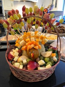 Maureen's sister-in-law, Denise Mahon, made this festive fruit basket for the party.