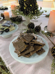 And the Sea Salt Toffee Bark is made using milk chocolate, buttery toffee, and sea salt Toffee. It is cooked, and stirred in a copper pot, poured on a long table, spread by hand and then broken into pieces – such a nice treat.