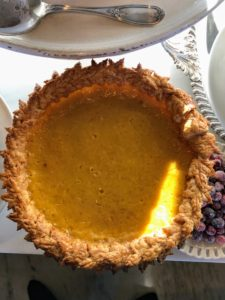 "This is a maple custard pie from season 7 of ""Martha Bakes"" - all the pies were so beautiful and delicious."