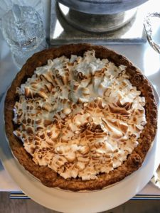 Here is a sweet potato pie with a meringue topping.