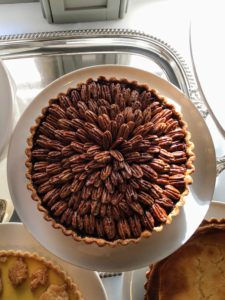 "And a bourbon brown butter pecan pie. I wanted this pie to be ""deep dish"" and everyone loved it."