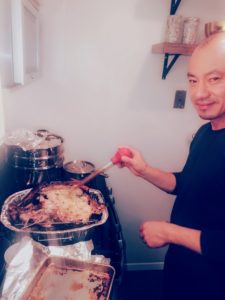 Here is Eugene Toye, the husband of my longtime makeup artist, Daisy Schwartzberg Toye. Eugene was busy in the kitchen this Thanksgiving.