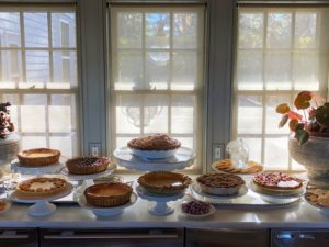 This photo shows the pies in such a great light. We made many, many pies - and not one crumb was left over.