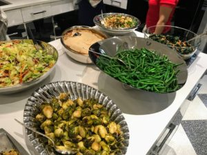 His Thanksgiving meal also included many sides, such as maple syrup sweet potatoes, chicken pot pie, cauliflower, string beans, Brussel sprouts, and a kale salad.