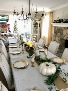 Our VP of marketing, Stella Cicarone, hosted Thanksgiving at her home. Here is her beautifully set table.
