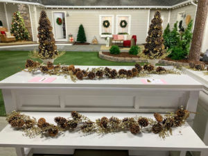 My holiday collection also includes garlands, topiaries and picks in pinecone. All of these pinecone decorations are durable and can be used year after year.