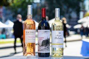 Samples of wine from Martha Stewart Wine Co. were available for tasting. We served Racine Cotes de Provence, El Portal Red, and Marquis de Bacalon Bordeaux. Go to our web site to see all our wines, including some of my personal favorites. https://marthastewartwine.com/ (Photo by Sarah Golonka)