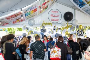 At all these USA Today Wine & Food events, visitors can step into this Martha Stewart Experience Pavilion to see all our partnering brands, ask questions about my products and join in on a crafts projects. (Photo by Sarah Golonka)