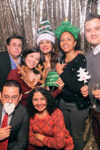 Back at the photo booth - here's a group photo with Mike Verassi, Lynn, Martin Mendoza, Ana Velasquez, Leticia Vazquez, Stacey Tyrell, and Frank Sanchez.