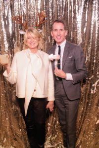 "One of the most popular and fun spots was the photo booth set up in one corner of the room. Here I am with my dear friend and EVP Design Director, Kevin Sharkey. There were lots of props to use for photos, but Kevin, you're not pointing that ""naughty"" sign at me, are you?"