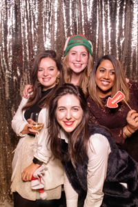 Liz, Blaze, Sam Perlman, and Shubha Murthy posed for this booth picture - everyone had so much Christmas spirit.