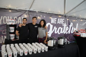 Here's the Strong Coffee Company booth serving their own Caffe Latte, a dairy-free beverage with 80-percent less sugar than the leading national brand latte. (Photo courtesy of LAWFE)