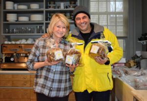 While preparing lunch, John Barricelli, owner of Sono Baking Co., stopped by to bring me Panettone and Stollen.