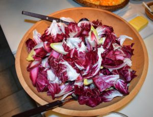 I made a flavorful vinaigrette for the endive salad and it was ready for serving.