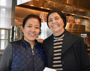 My housekeeper, Sanu Sherpa, stopped to pose with Laura for this photo - everyone on my staff is very close.