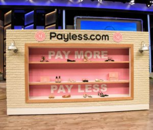 In fact, only two-pairs were priced in the hundreds. Thank you, Steve, for a fun segment - and each audience member also received a gift card for Payless.com to buy my shoes.