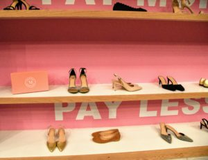 "Every pair she placed on the ""Pay More"" shelf was actually from my collection at Payless.com."