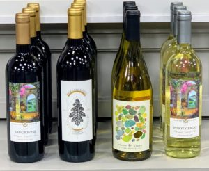 "And of course, we featured four delicious wines from Martha Stewart Wine Co. Wine makes such a perfect gift for the holidays. And we make it so easy - no need to be confused with what kind of wine to serve at a party. Our motto is ""pour the right wine, enjoy the right wine"". All our wines are fantastic."