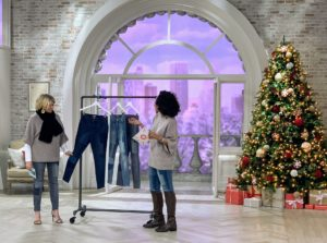 QVC host Leah Williams and I also showcased my Patchwork 5-Pocket Ankle Jeans. The fabric is comfortable and stretchable - and comes with a fun and unique patchwork design.