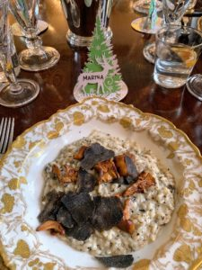 For our entree, the risotto - here is my plate. It was so delicious - I ate every bit.