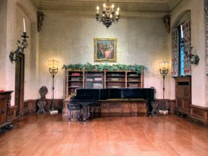 Here is the Music Room stage inside the Rosen House.